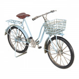 Macheta Bicicleta Retro din metal albastru 30 cm x 10 cm x 17 h, Clayre & Eef