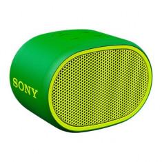 Boxa portabila Sony SRSXB01G, Rezistenta la stropire, Extra Bass, Bluetooth, Hands Free, Autonomie 6 ore, Verde