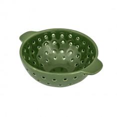 Strecuratoare cu manere J-Line, 17x8 cm (Dxh), ceramica, rotunda, Verde
