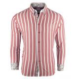 Camasa pentru barbati roz super slim fit casual cu guler floral JEEL