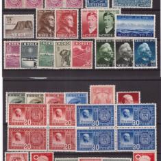 Norvegia - Lot timbre vechi anii 1940, nestampilate