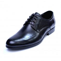 Pantofi barbati din piele naturala, Lee, SACCIO, Negru, 39 EU