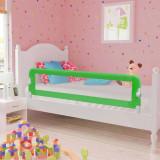 VidaXL Balustradă de protecție pat copii, verde, 120x42 cm, poliester