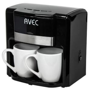 Filtru cafea AVEC  cu 2 cani, negru