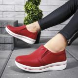 Pantofi Piele dama rosii casual Virajini