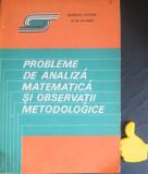 Probleme de analiza matematica si observatii metodologice Aurelia Catana