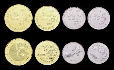 MALAEZIA MALAYSIA █ SET COMPLET DE MONEDE █ 5, 10, 20, 50 Sen █ 2017 UNC foto