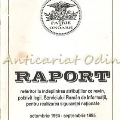 Raport Referitor La Indeplinirea Atributiilor - Octombrie 1994-Septembrie 1995
