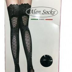 Ciorap dama ,cu model deosebit pe picor,60 DEN,negru