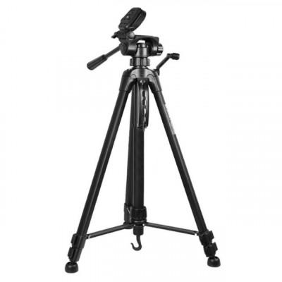 Trepied foto telescopic Weifeng WT-3540 universal 61-157 cm, negru foto