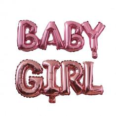 Balon folie Baby Girl, Baby Shower Party, Rose Gold, 35 cm
