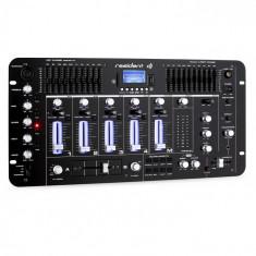 Resident DJ Dj rezident Kemistry 3 B 4 canale DJ mixer Bluetooth USB SD Phono negru