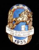 Concursul international de calarie RPR  1953 Insigna