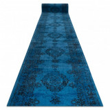 Traversa Vintage 22206043 Rozetă albastru, 80 cm