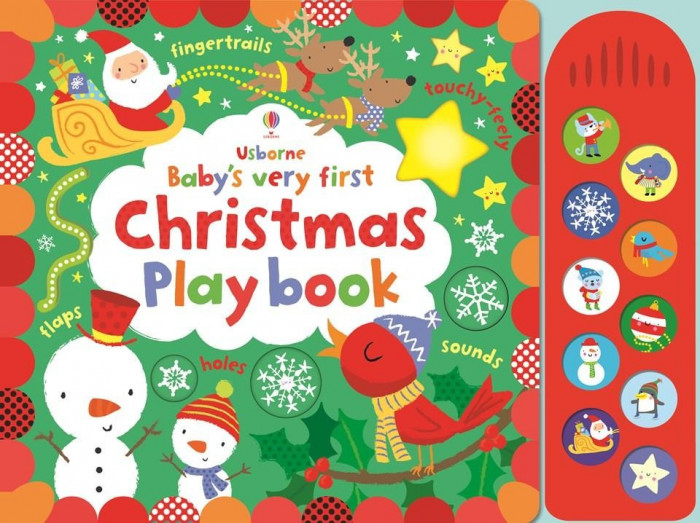 Babys very first Christmas Play book - Carte Usborne (0+)