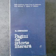 AL. SANDULESCU - PAGINI DE ISTORIE LITERARA