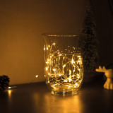 Sir de lumini LED de Craciun - 5 m -50 LED - alb cald, 3xAA