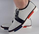 Pantofi perforati albi (cod 028468), 37 - 40