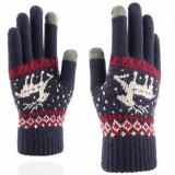 [Indika ] - TouchScreen Raindeer Woolen Gloves ST0002 Blue