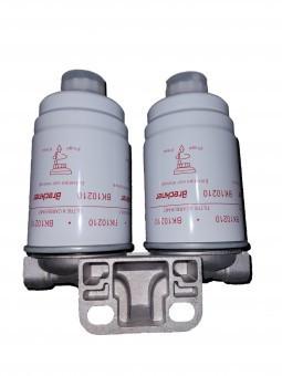 Baterie filtru motorina dubla cu filtre mari Tractor U650 foto