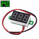 Voltmetru afisaj LED VERDE digital DC ( 0-30V ) (v.303)