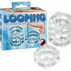 Set inele manson penis - Looping Silicon Ringset