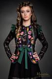Vesta Venezia verde cu imprimeu floral traditional