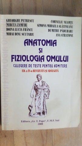 Anatomia si fiziologia omului teste pentru admitere- Gheorghe Petrescu, Doina Lucia Francu