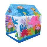 """Cort de joaca pentru copii """"Jungla Fericita"""" 96x71x104 cm, Multicolor, Textil"""