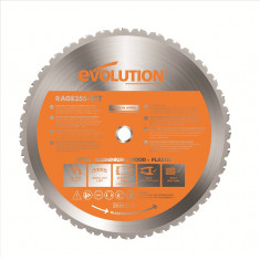 Disc circular de taiere multifunctional O355 x 25.4 mm Evolution EVORAGEBLADE355M 36 Dinti