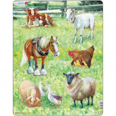 Puzzle Animale Domestice, 34 Piese Larsen LRX8