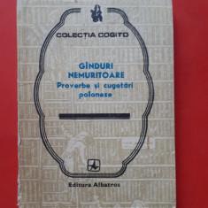 GANDURI NEMURITOARE Proverbe si cugetari poloneze × Colectia Cogito