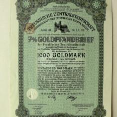 Titlu De Stat Obligatiune Germania-1930-1000-Goldmark