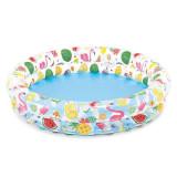Cumpara ieftin Piscina gonflabila rotunda Piscina copii Inele intex 122x25, 12-24 luni, Unisex, Multicolor