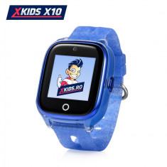Ceas Smartwatch Pentru Copii Xkids X10 cu Functie Telefon, Localizare GPS, Apel monitorizare, Camera, Pedometru, SOS, IP54, Incarcare magnetica - Alba
