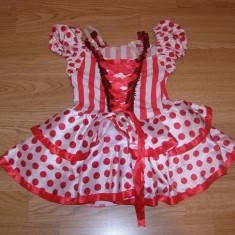 costum carnaval serbare rochie dans pentru copii de 3-4 ani
