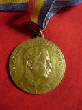 Medalie de Aviatie ARPA 1934 ,Carol II bronz -7 Ani vechime in Aviatie