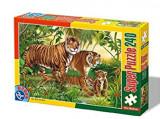 Cumpara ieftin Super Puzzle Tigrii 240 Piese 60211, D-Toys