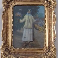 pictura cumpanas -florareasa.ulei pe carton