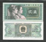 CHINA  2  JIAO  1980  UNC  [1] P- 882  , Serie :  litera /  litera / 8 cifre