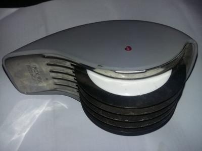 dispozitiv vintange lame inox de taiat aluat,taitei,maruntit tutun,T.GRATUIT foto
