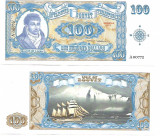 !!! RARR : FANTASY NOTE = ISLE OF BOUVET - 100 DOLARI 2011 - UNC / SERIA A