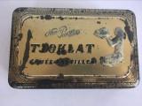 Cutie de ciocolata, veche, de tabla, Tjoklat Fabriek N.V. Amsterdam, Olanda