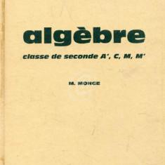 Algebre - clase de seconde (Sections A', C, M)