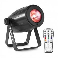 Beamz PS21W, LED pin-spot, reflektor, 12 W, 4 v 1 LED RGBW, telecomandă IR, negru