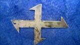 Pandantiv vechi si original,din Argint Crucea Regina Maria a Romaniei