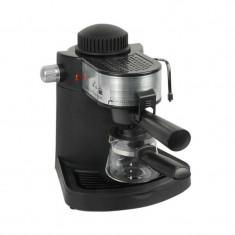 Espressor Cafea Hausberg 650 W, 4 Cești, Sistem Spumare, Capuccino
