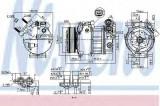 Compresor clima / aer conditionat FORD GRAND C-MAX Van (2010 - 2016) NISSENS 890125