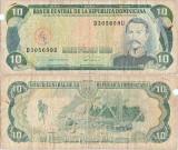 1990, 10 pesos oro (P-132) - Republica Dominicană!