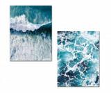 Set 2 tablouri Waves 30x40 cm - Onno, Multicolor